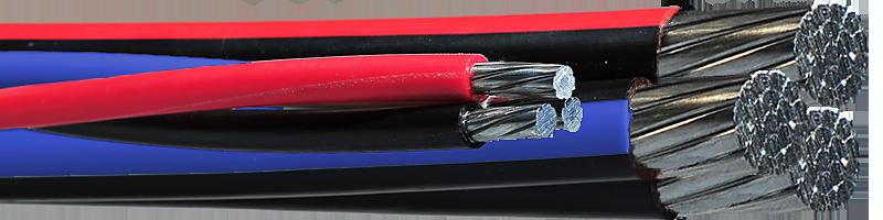RW90 600V – 3 Twisted Aluminum Conductors