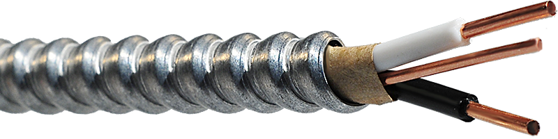 AC90 600V – 2 Copper Conductors (Black/White)